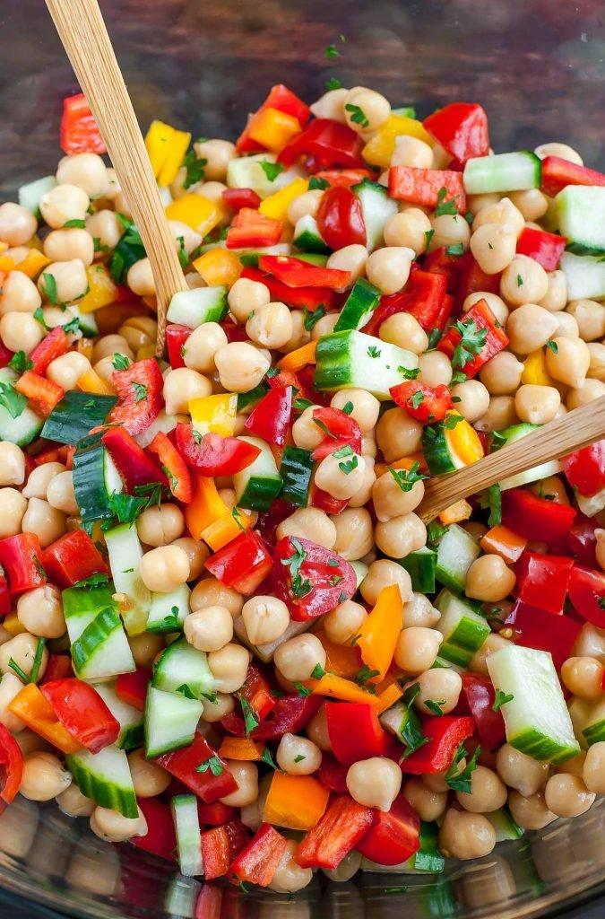 Healthy Italian Chickpea Salad